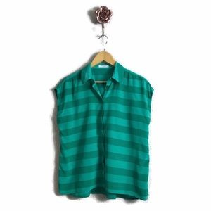 Equipment Leandra Rugby Stripe Silk Blouse